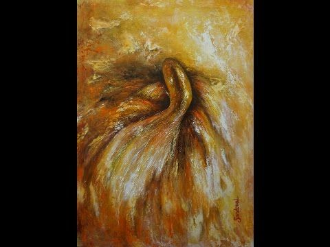 """Pintura """"Goldfish"""" Abstracto. Artista Diana Sandoval. Óleo - YouTube"""