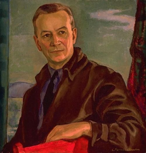 Edwin Holgate who became of Group of Seven member not long before it disbanded. Portrait by Canadian painter Lilias Torrance Newton (1896-1980)