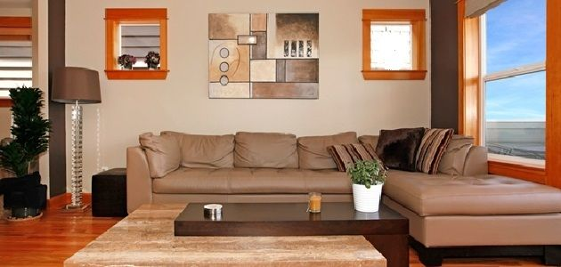 Interior Design L-Shaped Living Room