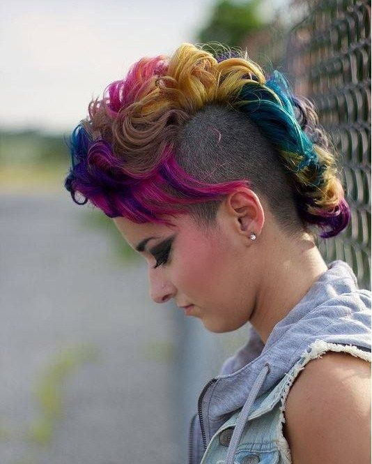 Edgy Multicolored Mohawk