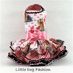 Yorkie print cotton dog dress http://www.littledogfashion.com/Pink-Yorkie-Valentine-Dresses-for-Dogs-p/val-pnk-yorkie-dres.htm