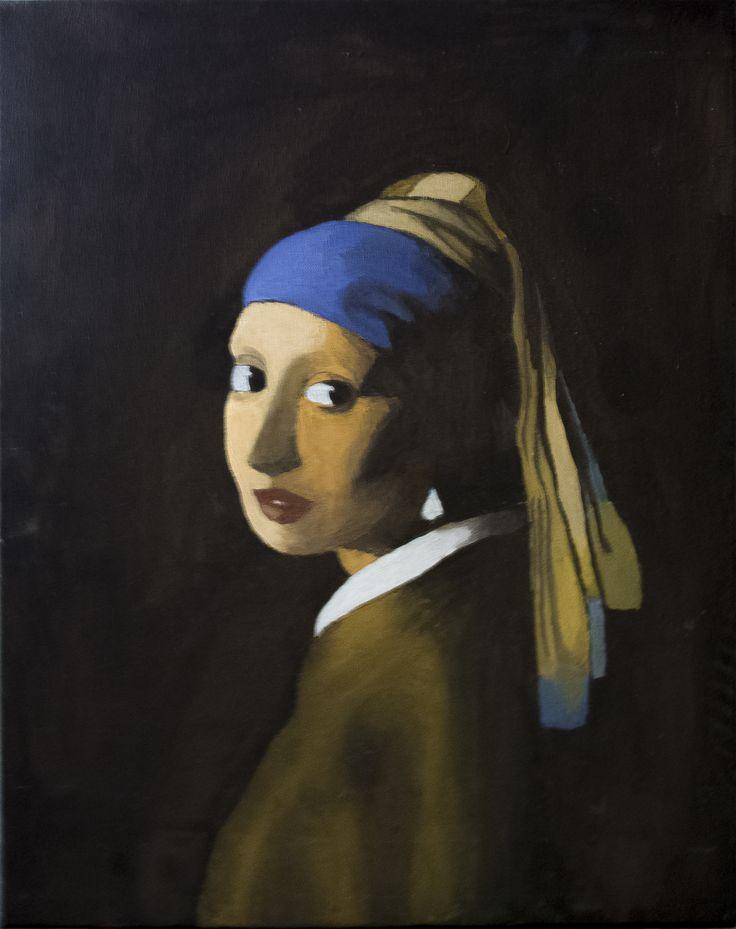 La ragazza con l'orecchino di perla - Vermeer, by Paolo Albanese.