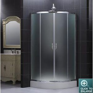 Sector Shower Enclosure with Frosted Glass: Sector Shower, Shower Ideas, Glasses Combinations, Shower Head, Glasses Shower, Shower Enclosure, Dreamlin Shower, Frostings Glasses, Sliding Doors