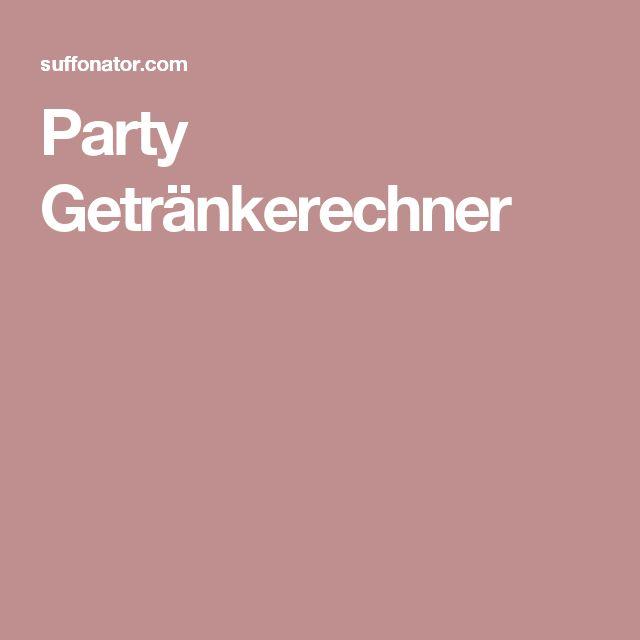 Party Getränkerechner