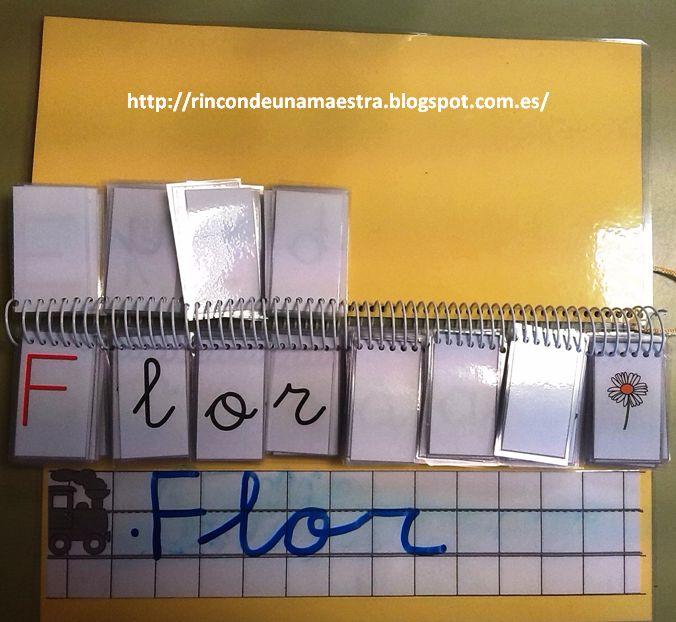 """Para ayudar a afianzar el proceso lectoescritor, he creado un libro manipulativo llamado """"Construye palabras"""".  Este recurso lo tengo en el ..."""