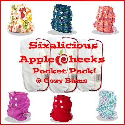 Sixalicious AppleCheeks with Stay Dry Microterry - Size 1 - Cloth Diapers Canada