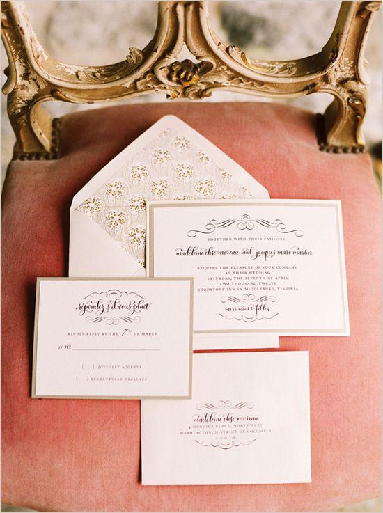 love the envelope! fancy wedding invites