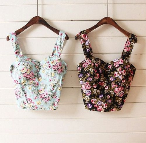floral bustier tops.