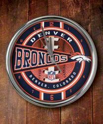 Denver Broncos Chrome Clock $22.99 http://sportsstore.usatoday.com/Denver-Broncos-Chrome-Clock-_-1363198871_PD.html?social=pinterest_pfid50-08928