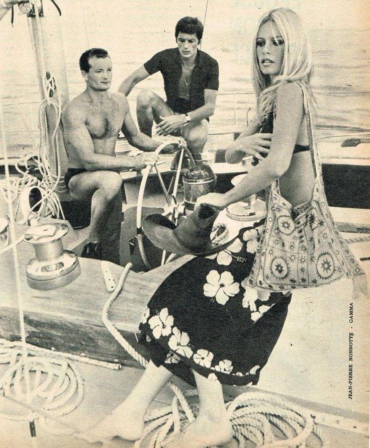 Brigitte Bardot, Alain Delon & Eric Tabarly, 1968