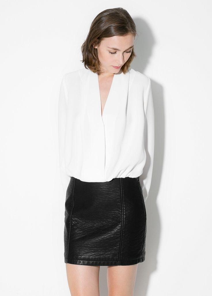 Contrast-bodice dress