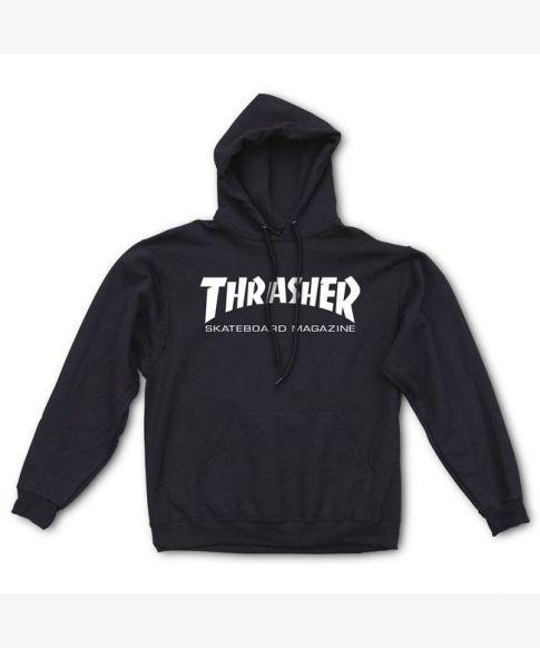 Thrasher Sweat Hood Skate Mag Black