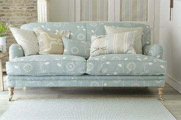 Duck egg blue sofa