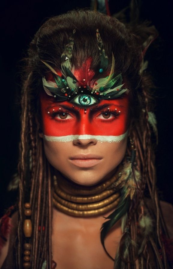 tribal face painting... White with black stripe | See more about Tribal Face…