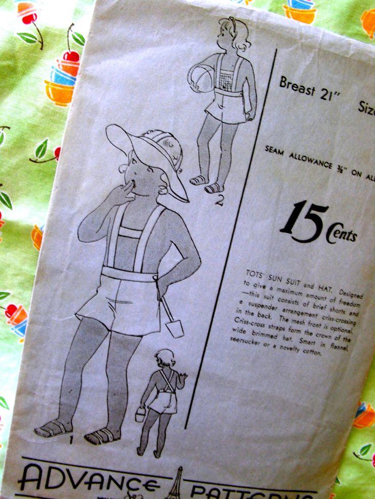 Advance modello dell'annata 1930 1320 - TOTS sole vestito e cappello / / taglia 2 / / fabbrica piegata di anne8865 su Etsy https://www.etsy.com/it/listing/215070426/advance-modello-dellannata-1930-1320