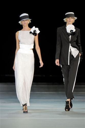 Armani 2012 Black and White Wedding Pantsuit #KellyIrwinRutty is the the Head of #Production #PrestonBailey #Designs (www.prestonbailey...). She has helped to #Plan, #Design and #Execute some of the most #Lavish #Weddings and #Events in the world for a clientele that includes A-list #Celebrities #Athletes and #CEO's. Here she shares a bit of her #Inspiration. @KellyIrwinDesigns