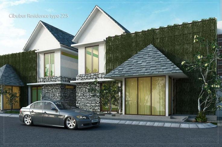 Desain Rumah Sudut / Hook 2 lantai   Desain Rumah type 225  Desain Rumah lebar 17 meter  Desain Rumah 4 Kamar Tidur