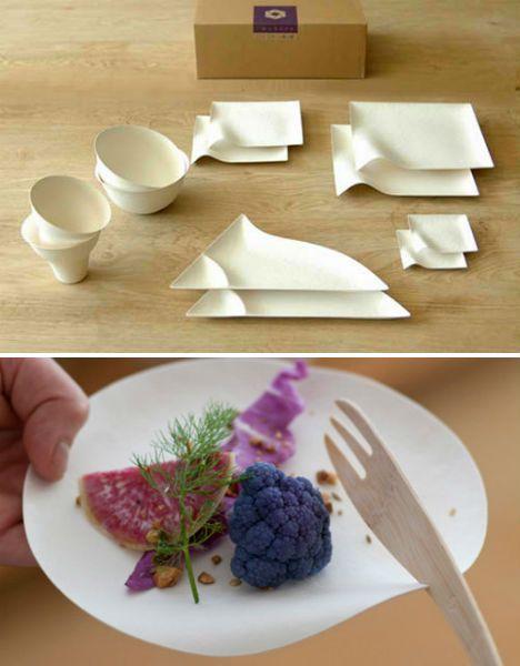 Reinventing Disposable: Elegant Japanese Paper Tableware | Designs & Ideas on Dornob
