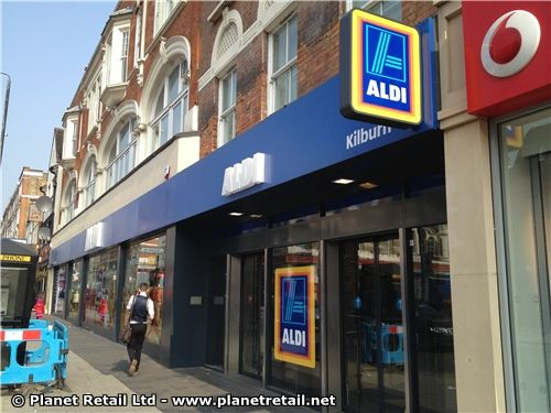 Aldi in UK - http://www.planetretail.net/Reports/VirtualTourDetails?itemID=164718 - German hard discount retailer Aldi Süd opened its first small-sized, convenience-orientated store in the UK in early April 2013. The store is located in north London, on Kilburn High Road.