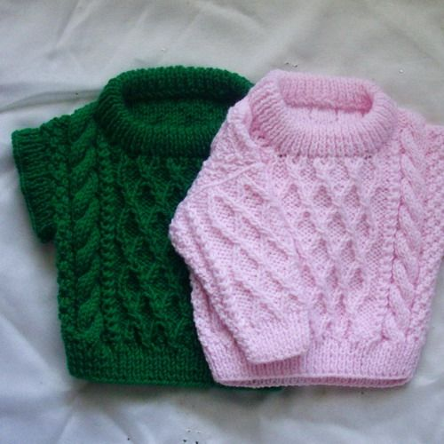 Treabhair , PDF knitting pattern for baby or toddler cable sweater