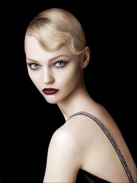 Glamour Girls...Sasha Pivovarova - great make-up and hair...beauty and cosmetics (makeup)