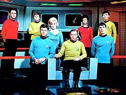 Star Trek (1966–1969) - Cast and history: http://www.imdb.com/title/tt0060028/  Theme music: http://www.youtube.com/watch?v=hdjL8WXjlGI