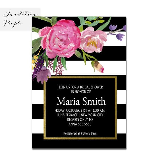 38 best black and white bridal shower invitations images on