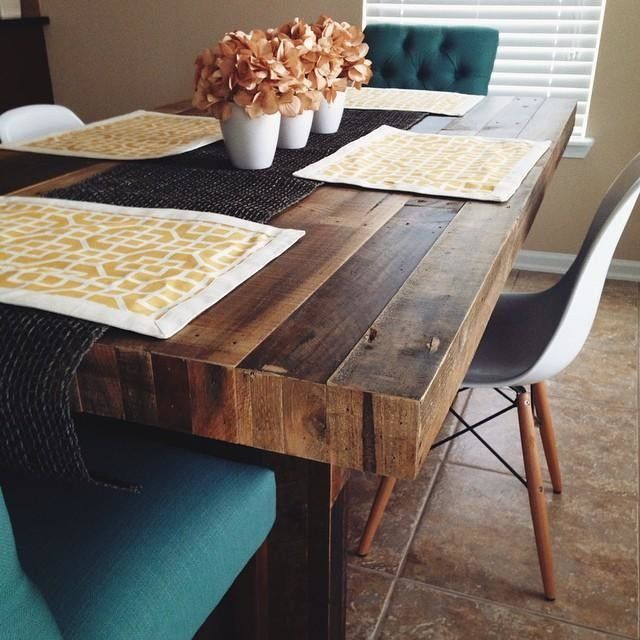 Best 20 Reclaimed Wood Dining Table Ideas On Pinterest