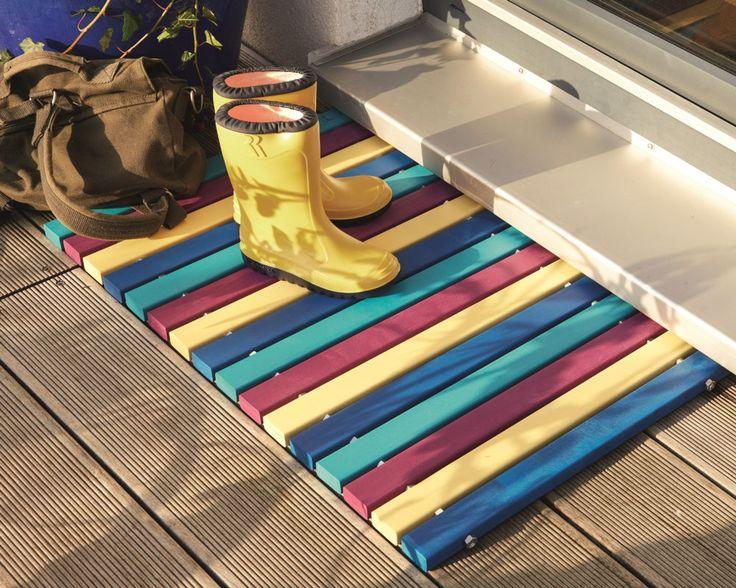 DIY Academy: Fußmatte aus Holzleisten selber bauen