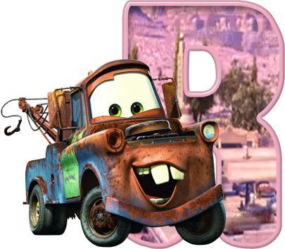 Alfabeto de Mate de Cars.,,,,R