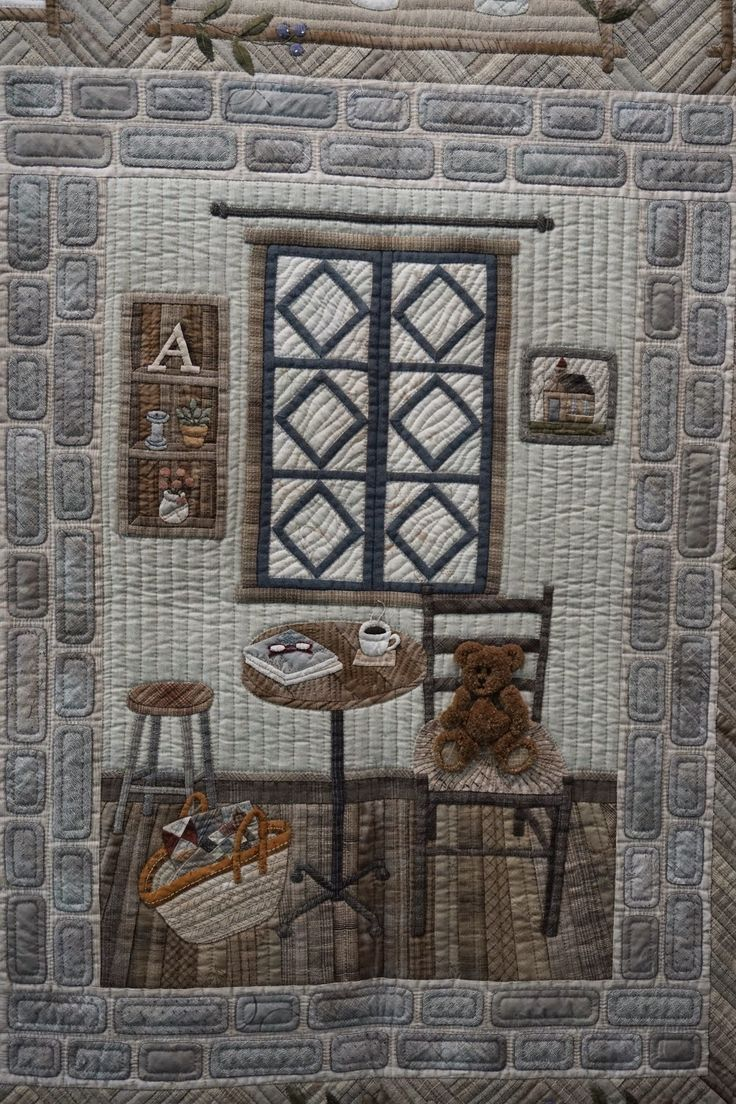 "Koala's place - CrossStitch & Patchwork & Embroidery: Tokyo International Great Quilt Festival - Part 5 - ""Country antique ZAKKA"" by Mariko Akahori."