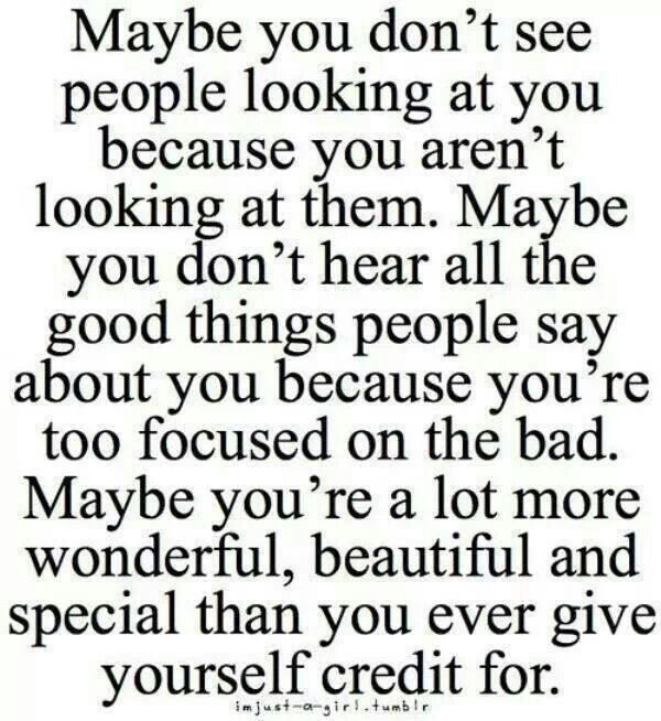 Maybe you do not see people looking at you because you aren't looking at them.