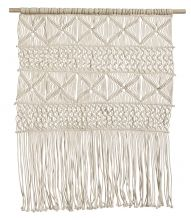 Wall decoration, off white, knitted | Nordal.eu