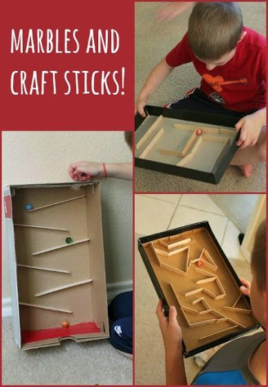 Build your own marble run with craft sticks - so simple and fun!