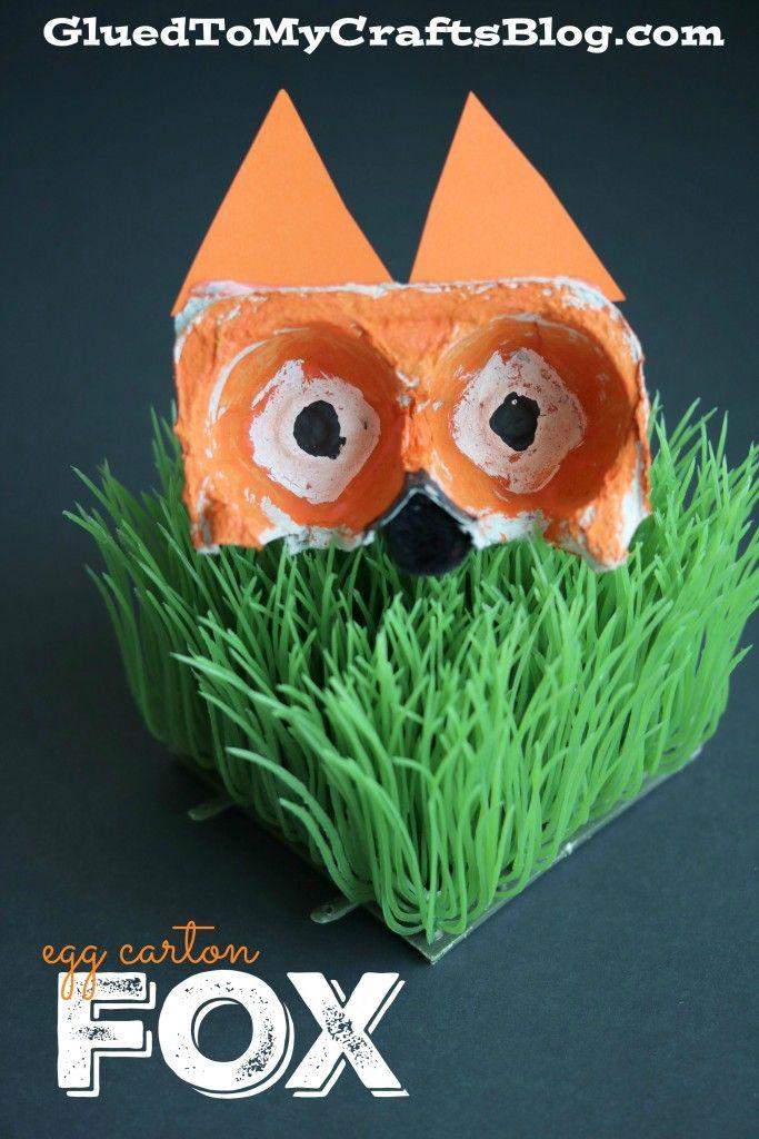 Recycled Egg Carton Fox - Kid Craft