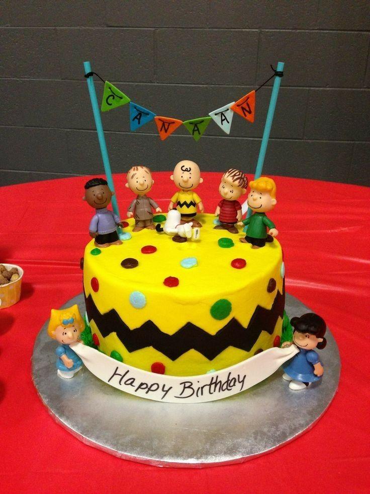 Happy Birthday Peanuts Cake Photo