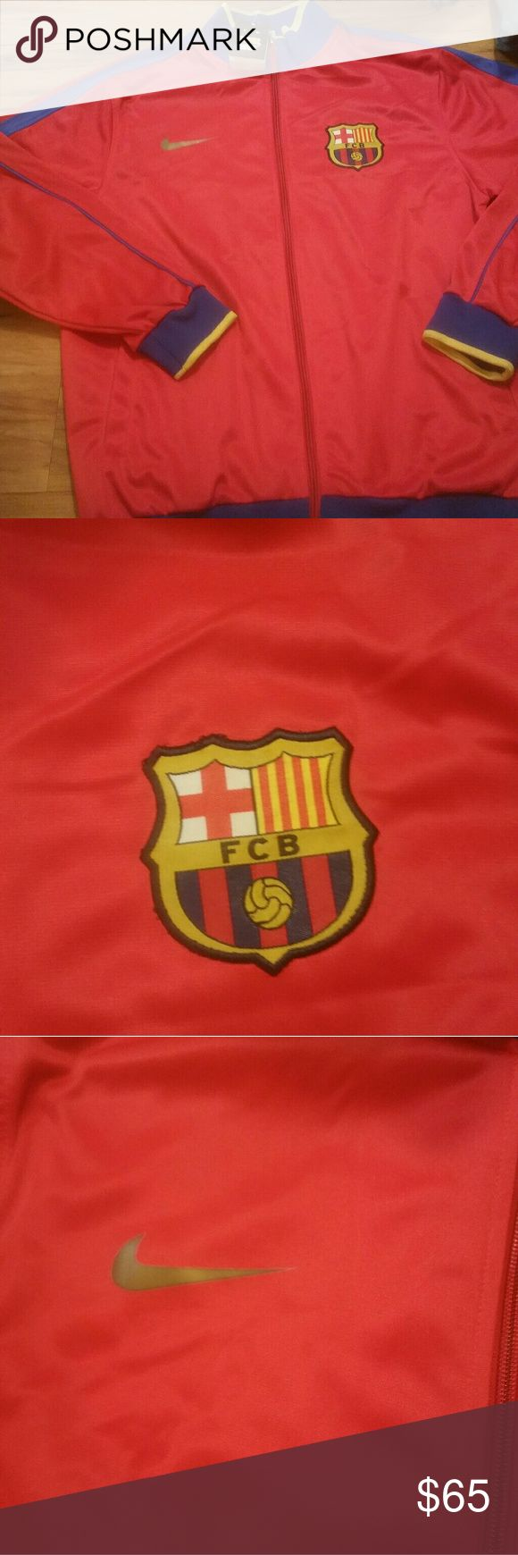 NEW NIKE FC BARCELONA MEN'S XL JACKET RED New with tags , licensed Barcelona FC jacket by nike , men's xl. 23 inches pit to pit and 29 in length. Polyester Nike Jackets & Coats Performance Jackets