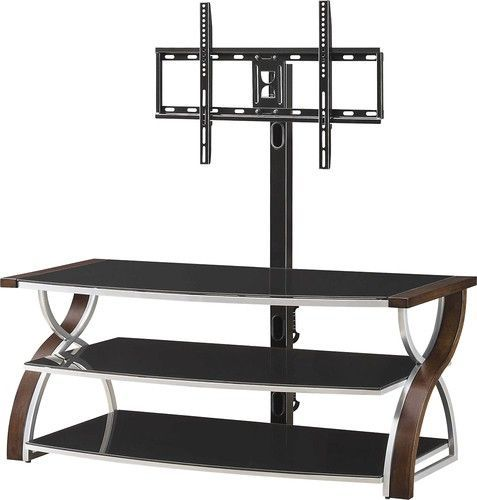 """Whalen Furniture - 3-in-1 Console for Most Flat-Panel TVs Up to 65"""" - Brown Cherry"""