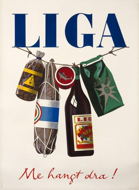 Liga, Me hangt dra! by Birkhauser, Peter Baumberger, Otto Baumann - Fraumunsterstr. 17, 1928 | Shop original vintage Swiss #posters online: www.internationalposter.com