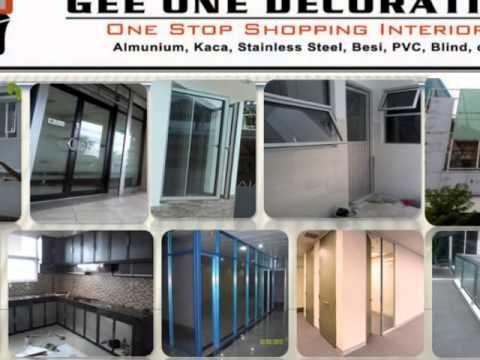 pintu sliding, aluminium, kusen, kaca, frameless, fitting, tempered,