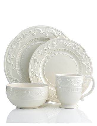 Fitz \u0026 Floyd white dinnerware  sc 1 st  Pinterest : fitz and floyd toulouse dinnerware - pezcame.com