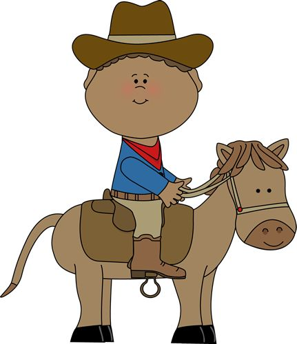 Cowboy on a horse from MyCuteGraphics