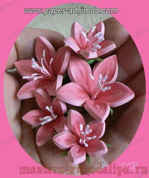 Мастер-класс по квиллингу: Розовые колокольчики