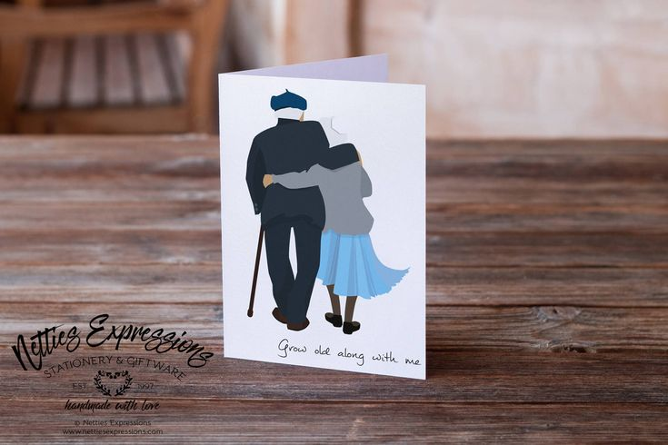 """Excited to share the latest best seller in my #etsy shop: """"Grow old along with me the best is yet to be"""" http://etsy.me/2CpcOqQ #papergoods #birthday #greetingcard #wifebirthdaycard #nettiesexpressions #husbandbirthdaycard #valentinesdaycard #weddingcard #anniversary"""