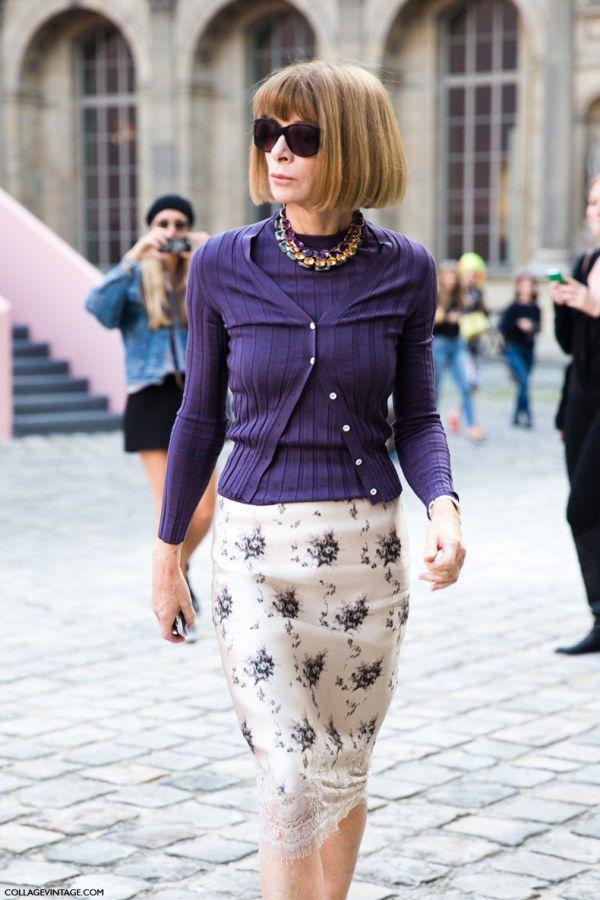 Anna Wintour apuesta por el estilo lencero