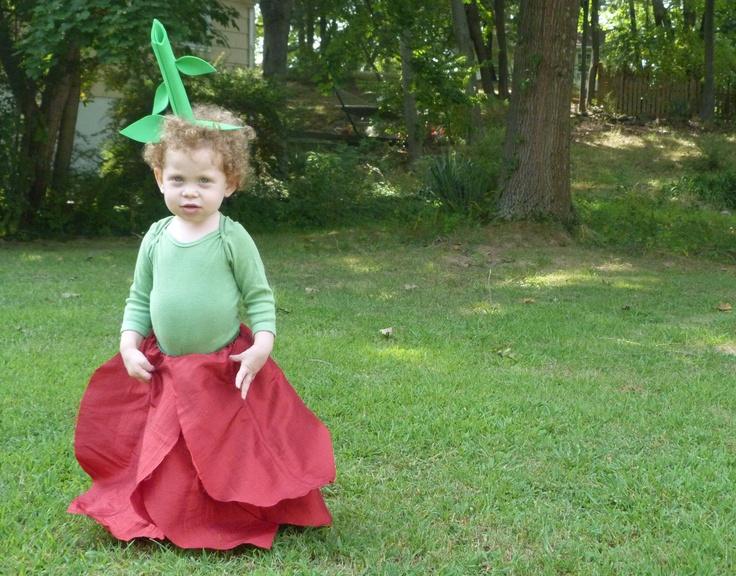 Baby Halloween Flower Kid Costume: Mini Rose- Halloween costumes for infants, baby halloween outfit, baby halloween tutu,. $49.00, via Etsy.