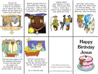Happy Birthday Jesus mini-book and other PS Christmas Bible Printables
