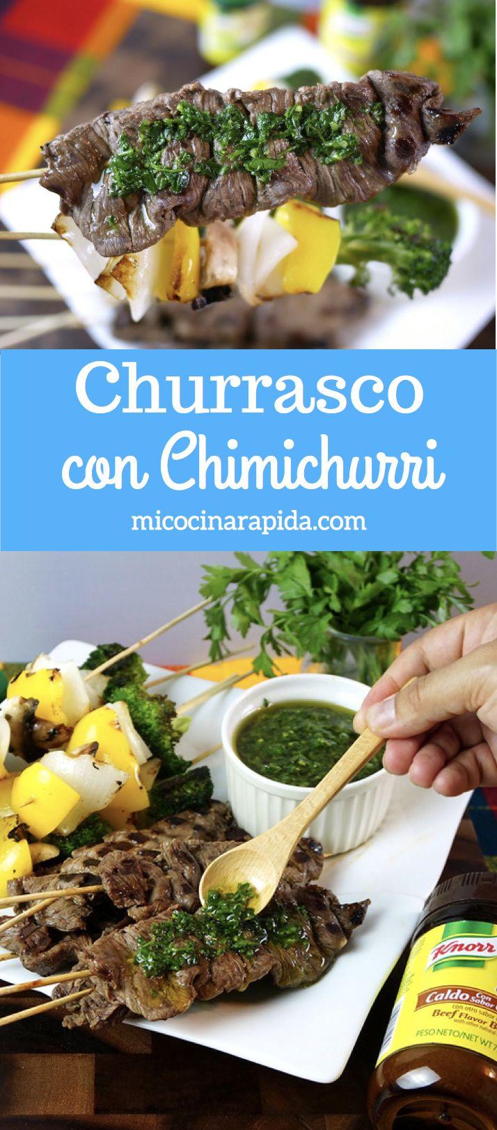 El Churrasco es un buen trozo de carne marinada en cítricos que después se cocina en la parrilla o sobre leña. Y claro, como toda receta hay diferentes maneras de prepararlo y aquí te comparto ésta que encontré enViveMejor.comy va a compañada de una deliciosa Salsa Chimichurri. Receta =>http://bit.ly/2uKgIH8 #MiCocinaViveMejor#ad