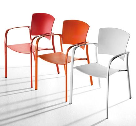 The versatility of Eina stacking chairs makes them suitable for a wide variety of commercial and residential uses. http://www.zenithinteriors.com.au/product/583/eina-armchair