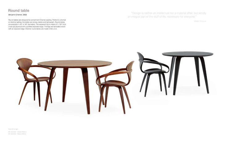 cherner table and chairs
